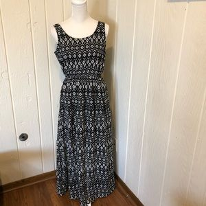 Juniors speed control sleeveless maxi dress size l